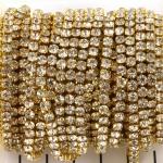 Strass Schakelketting goud 3,2 mm 20 cm