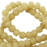 Sparkle beads 6mm Mustard Green 10 stuks 47054