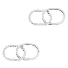 Bedels van Stainless steel Roestvrij tussenstuk Double oval zilver 70103