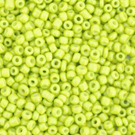 Rocailles 12/0 (2mm) Neon yellow, 10 gram 72422