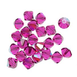 Preciosa Kristal bicone 3 mm - Fuchsia 10 st.