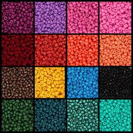 Pakket Colour Rocailles 16 zakjes 3 mm 10 gram