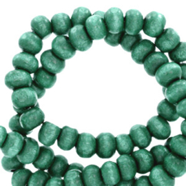 Houten kralen 4mm rond Alhambra green  4 gram 67860