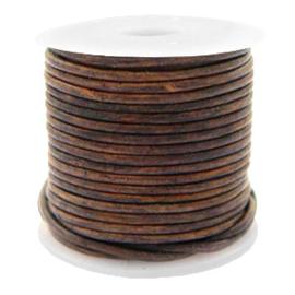 Leer DQ rond 1 mm Vintage taupe brown 50 cm