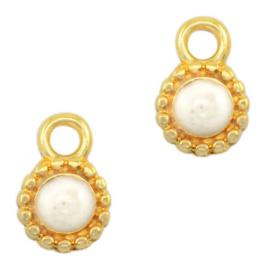 DQ Pearl white-gold Bedel (nikkelvrij)