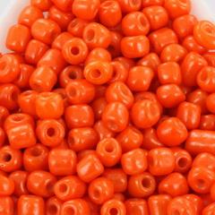 Rocailles opaque, 3mm 8/0, Oranje 10 gram 68306