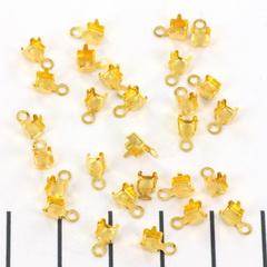 Eindkap voor strass schakelketting - 2.7 mm goud 10 st.