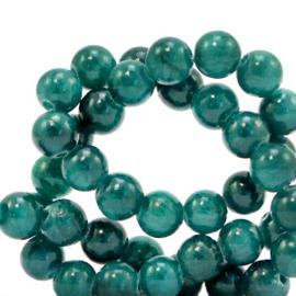 6 mm kralen natuursteen jade Ultramarine green 70403 per 10 st.