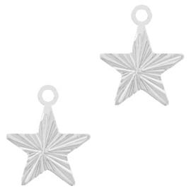 TQ metaal brass bedel star Zilver