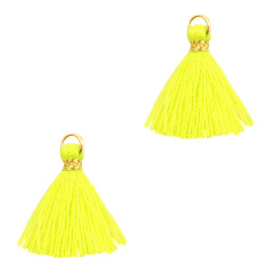 Kwastje 1,5 cm Gold-neon yellow