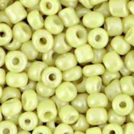 Rocailles 6/0 (4mm) Luminary green 10 gram