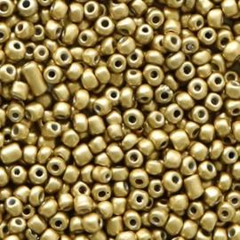 Rocailles 12/0 (2mm) Medallion gold metallic, 10 gram 56746
