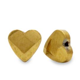 Kralen van hematite hart facet Gold