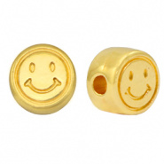 DQ smiley kraal 7mm Goud (nikkelvrij)