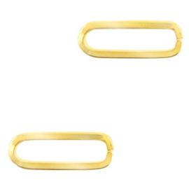 Bedels van Stainless steel Roestvrij staal (RVS) tussenstuk oval Goud
