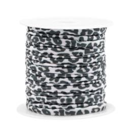 Elastisch stitched lint leopard Beige-white 71002  50cm