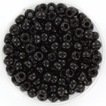 Miyuki kralen 4mm 6/0 -  opaque zwart
