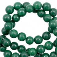 4 mm kralen natuursteen rond Jade Pine green 61632 10 st