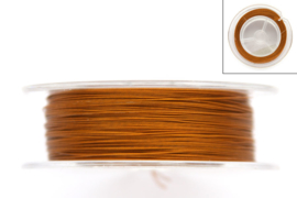 Staaldraad, goudkleurig, coated, 0.38mm dik, 100 meter,