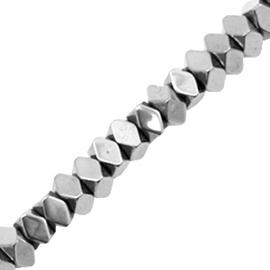 Kralen van hematite facet disc Silver grey 3 mm 10 st  58635