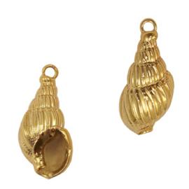 Schelp hanger special Penhoren Gold per stuk 72076
