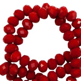 Facet kralen  6x4 mm Dark Haute red Pearl Shine Coating 62486 10 st.