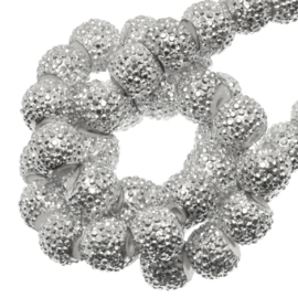 Sparkle beads 4 mm Silver Shine 10 stuks