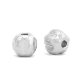 Kralen van Hematite 4 mm Antiqua Silver 10  st 68716