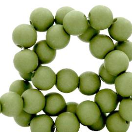 6 mm kralen van acryl Green olive 69093 12 gram (ca.100 st.)