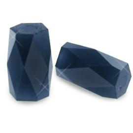 Top quality facet kralen tube Montana blue 10 st