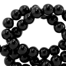 Glaskralen 4 mm opaque Black 66320 40 st.