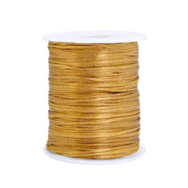 Draad van satijn 1.5mm Gold 1 meter 67582