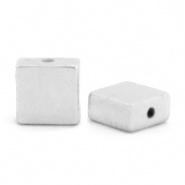 Kralen van hematite flat square Antiek silver 68735 4 x 2 mm 10 st