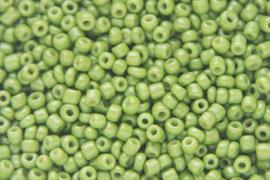 Rocailles 12/0  2mm, Limegroen 10 gram 0854-050