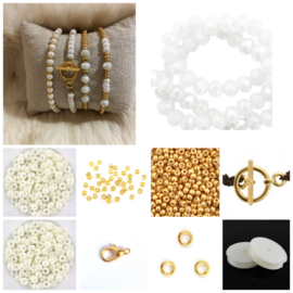 DIY Sieradenpakket Miyuki White Gold