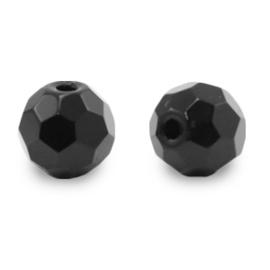 8 mm Natuur steen Kralen Rond Facet geslepen Black per 10 stuks 71126