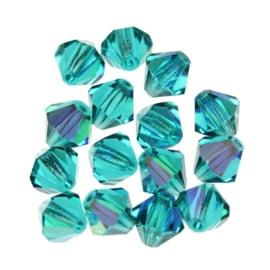 Preciosa Kristal bicone 3 mm - blue zircon 10 st.