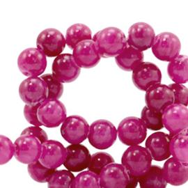 4 mm kralen natuursteen jade Magenta purple 70410 10 st.