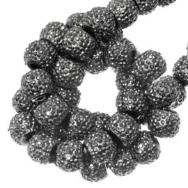 Sparkle beads 4 mm Metallic Grey 10 stuks