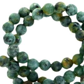 Halfedelsteen kraal rond 4mm agate mat Reef green 62967 25 st