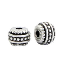 Metaal kralen DQ deco Antiek zilver (nikkelvrij) 66448 per stuk