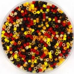 Miyuki delica's 11/0 - fire mix35 per 2 gram circa 400 st.