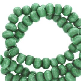 Houten kralen 4mm rond Basil green  4 gram 67863