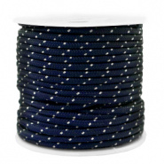 Maritiem koord Turquoise Black 2 mm per meter
