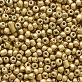 Rocailles 12/0 (2mm) Dark champagne metallic, 10 gram 56750