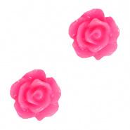 Roosje kralen 10 mm Magenta Pink per 4 stuks