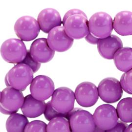 Glaskralen 4 mm opaque Sheer Lilac 66350 40 st.