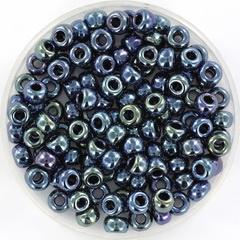 Miyuki rocailles 6/0 - metallic iris gunmetal 456