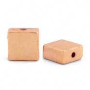 Kralen van hematite flat square Rosegold 4 x 2 mm 10 st