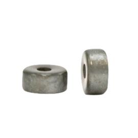 Super Polaris kralen disc 4mm Quiet grey 69978 per stuk